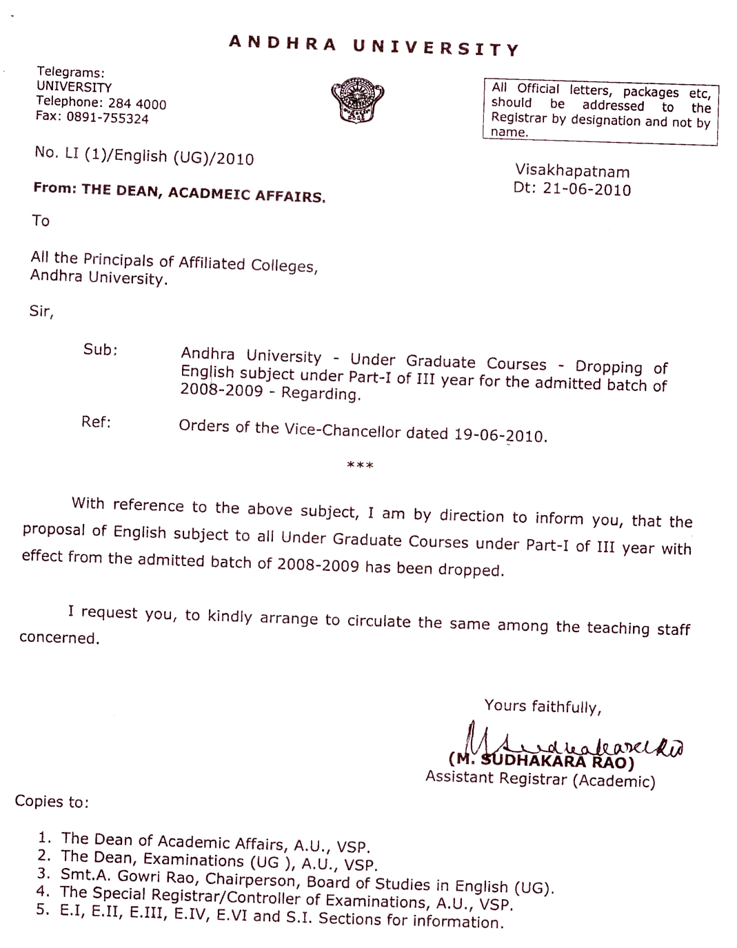 Andhra University | UG and PG Syllabus